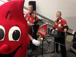 Steel Jam at American Pharmacists Assoc Convention with Betsy the Blood Drop
