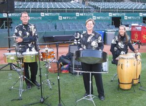 Steel Jam at the Oakland A's Dinner on the Diamond event at the Coliseum 2