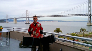 Steel Jam Solo Player Otto Huber at Google Cocktail Party Event in San Francisco